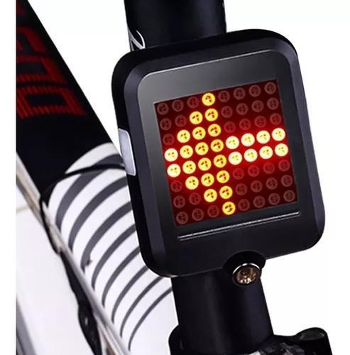 Luz traseira de bicicleta mtb aviso de segurança preta