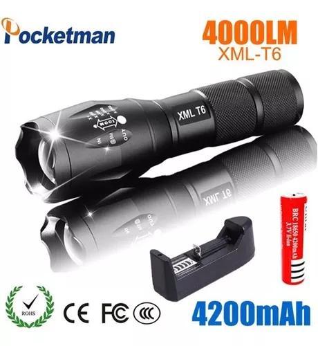 Recarregável led lanterna, 600 lúmen zoomable lanterna br