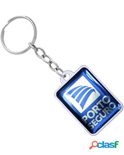 chaveiro quadrado resinado personalizado