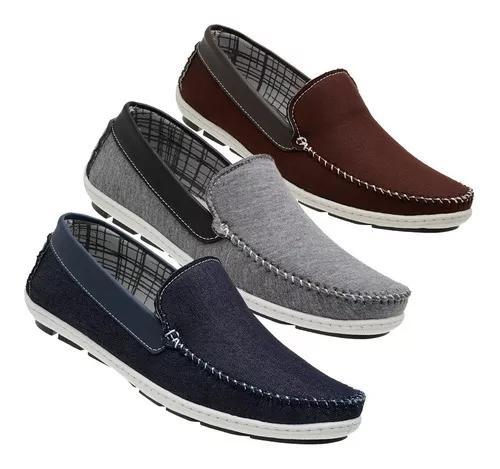 3 pares mocassim sapatilha masculina az / cz / mr conforto