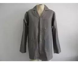 Kit c/3 jalecos manga longa uniforme profissional cinza