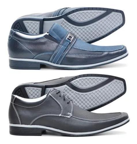 Kit dois pares de sapato social bico fino ofertar