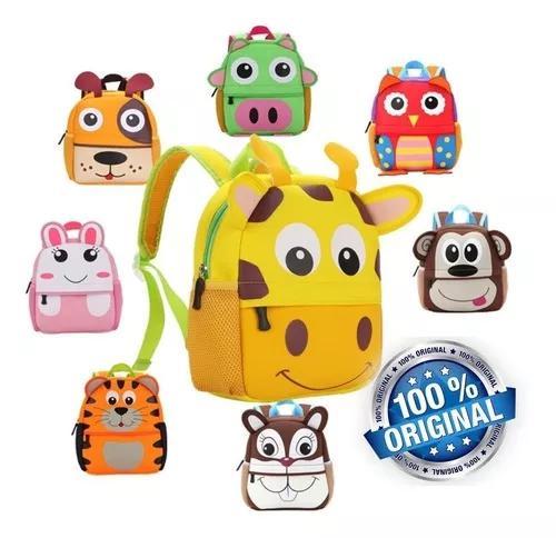 Mochila kids zoo bebê criança infantil escola bicho bolsa