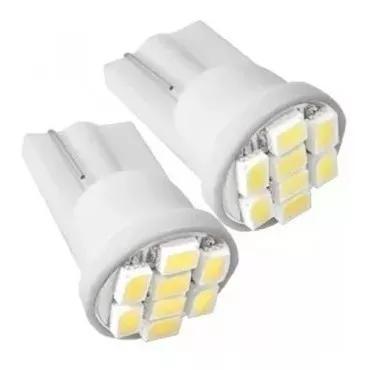20 lâmpadas 8 leds t10 w5w - pingo farolete xenon pingao