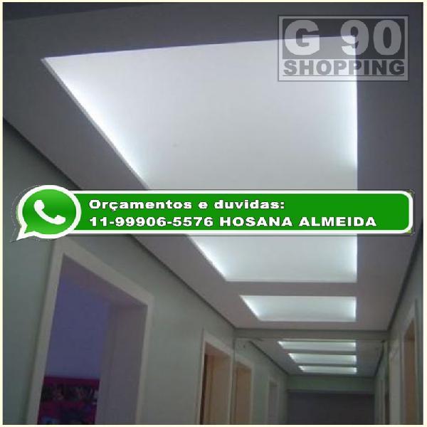 Acrílico branco leitoso luminárias teto de elevador