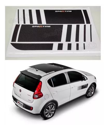 Adesivo palio sporting atractive faixa kit fibra carbono