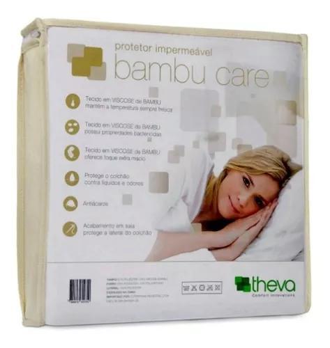 Capa impermeável colchão americano bambu care 203x97 theva