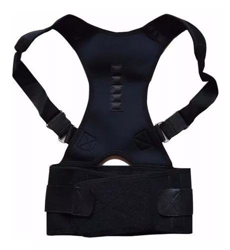 Cinta postural corretor de postura magnética preta tam p m