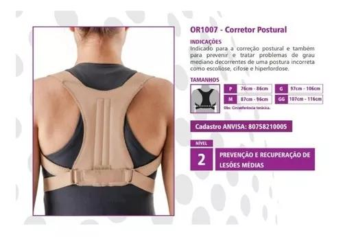 Corretor postural hidrolight or1007 m