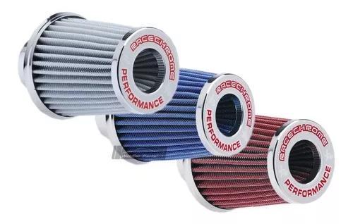 Filtro de ar esportivo duplofluxo race chrome performance