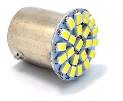 Kit 10 lampada led 1 polo ré lanterna 22 leds 12 volts