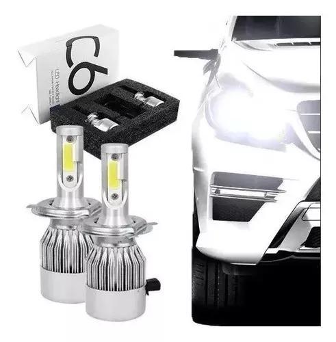 Kit lampada led h4 72w 7200 lumens super branca tipo xenon