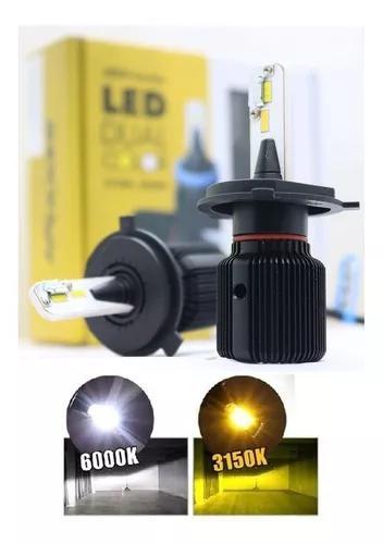 Kit lampada ultra led shock light h4 duas cores 3000k 6000k