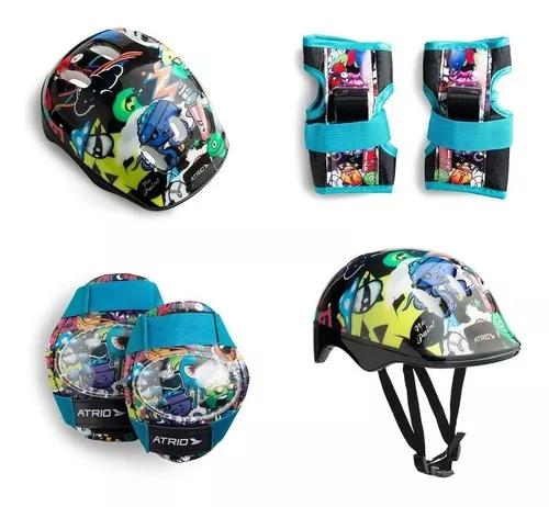 Kit segurança patins bike skate unisex monster - es200