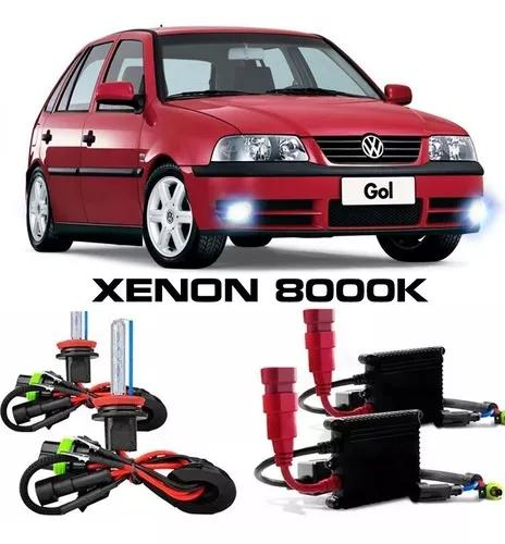 Kit Xenon H3 8000k Farol Milha Gol - Saveiro G2 G3 G4 Top