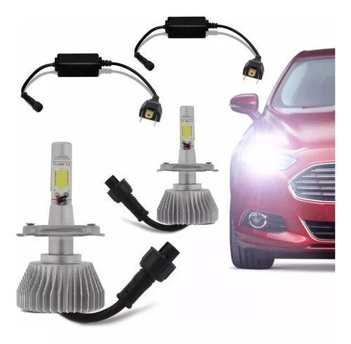 Kit xenon led para carro lampada h4 6000k 3600 lumens 40w