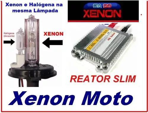 Kit xenon slim para moto h4-2 - xenon e halógena -