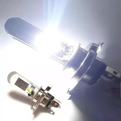 Lampada farol led h4 6000k super branca continua / alternada