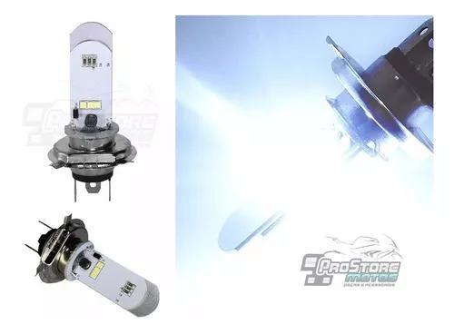 Lampada farol led h4 moto xre300 cb300 fazer250 cg fan titan