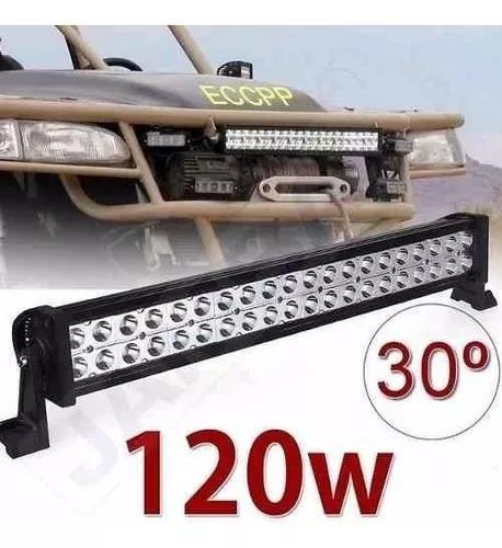 Led light bar barra 40 led 120w carro jeep off roud
