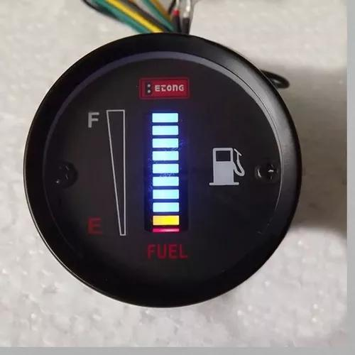 Marcador de combustível digital universal 52 mm carro moto