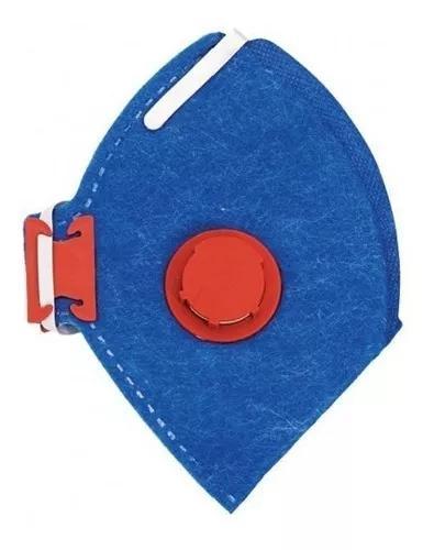 Mascara respirador descartável pff3 com valvula pacote c/20