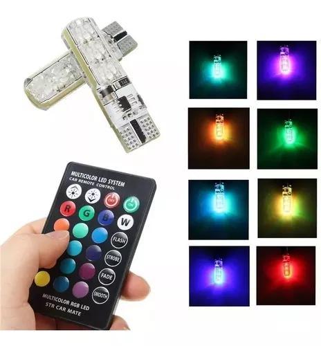 Par lâmpada pingo t10 6 led rgb 16 cores silicone control