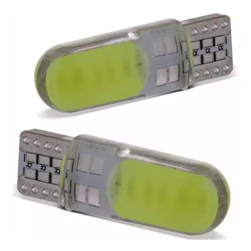 Par lâmpadas t10 pingo led cob canbus s