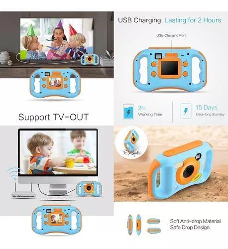 Amkov kids camera de vdeo digital wifi connection max. 5