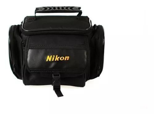 Bolsa fotográfica para nikon p/ câmera, lente e