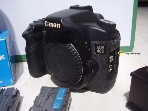 Canon eos 40d revisada + acessórios.