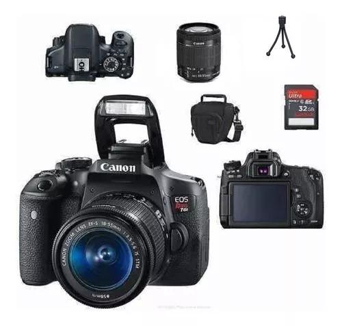 Canon t6i 18-55mm is stm 32gb bolsa tripe nova