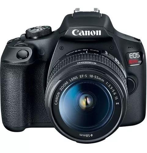Câmera canon eos rebel t7 c/ 18-55mm is il - pronta entrega