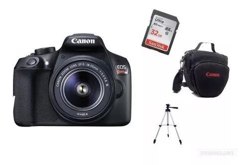 Câmera canon rebel t6 c/18.55mm lii+32gb+bolsa+tripe