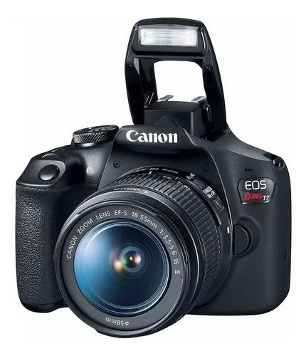 Câmera canon rebel t7 lente 18-55mm c nota fiscal rev