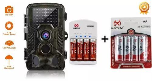 Câmera de trilha hc800a + carregador +8 pilhas