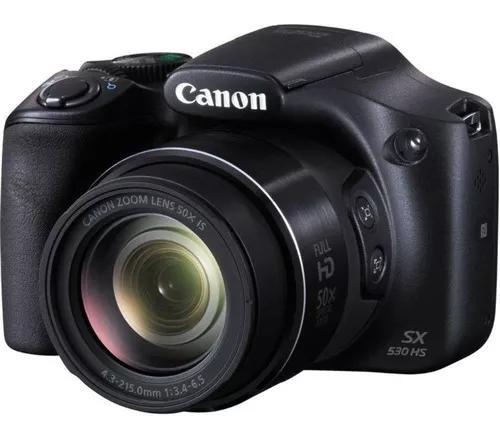 Câmera digital canon powershot sx530 hs+ cartão 64gb