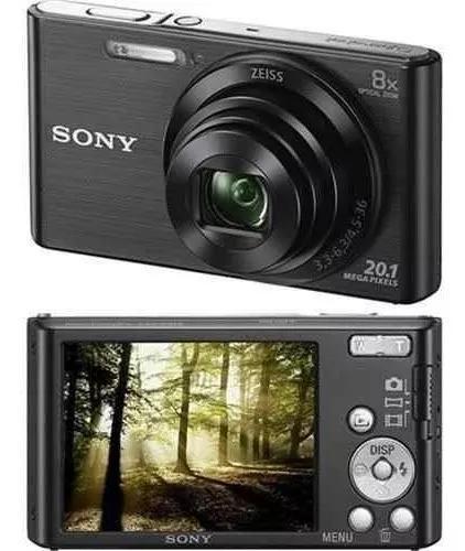 Câmera fotográfica sony dsc w830 nova hd 20.1mp 8x preta