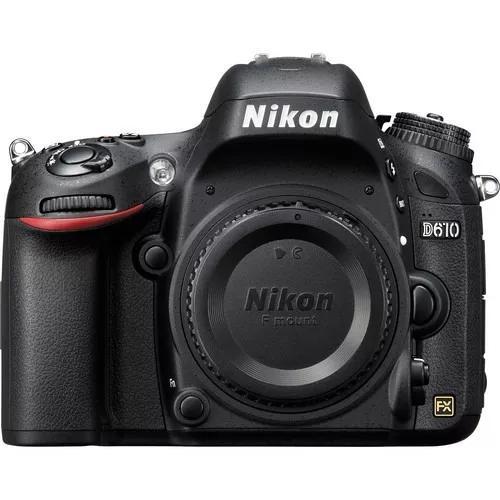 Câmera nikon d610 corpo nova com 1 ano de garantia + nfe