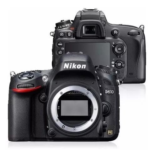 Câmera nikon d610 (corpo) + sd 32gb classe 10