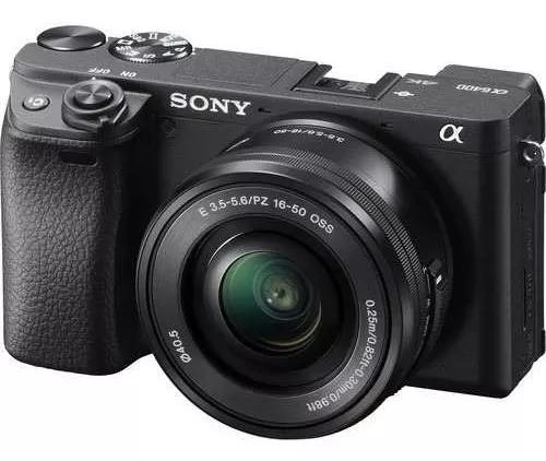 Câmera sony alpha a6400 c 16-50mm + 32gb garantia sony nf-e