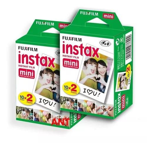 Filme instax mini pack com 40 fotos entrega-rápida