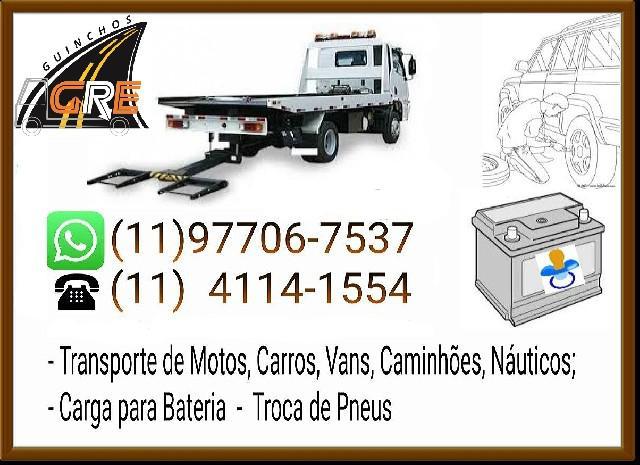 Guincho na saúde 011977067537 carga para bateria