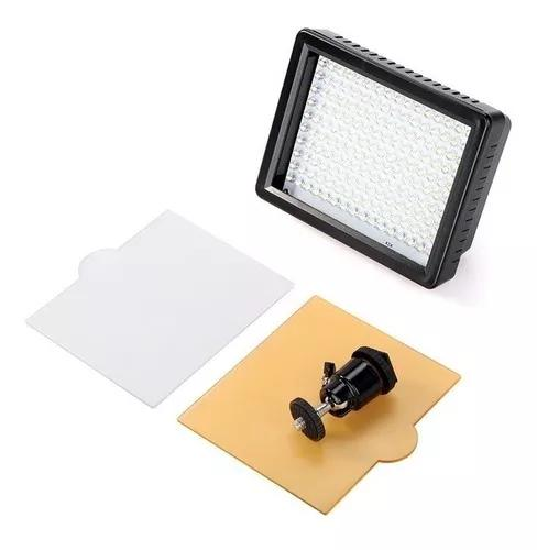 Iluminador de 160 led p foto video dslr filmadora