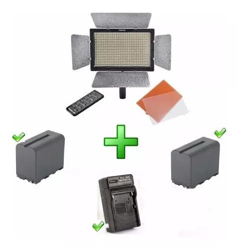 Iluminador led yn600ii + 2 baterias f970 + carregador