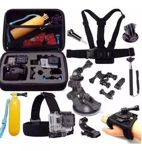 Kit aventura go pro acessórios gopro 3+ 4 5 sports black 6