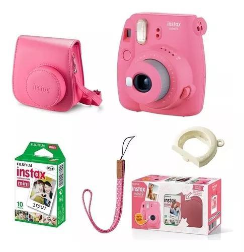 Kit câmera instantânea fujifilm instax mini9 + filme +