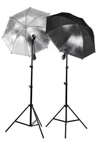 Kit de iluminação luz continua p/ estudio fotografico 2mt