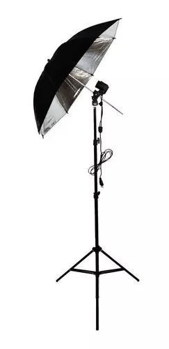 Kit estúdio foto iluminaçao luz e27 sombrinha refletora