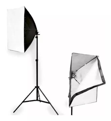 Kit youtuber luz contínua soft box 50 x 70 + tripe 2m video